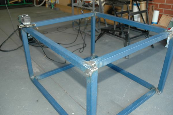Top, Bottom and legs welded, Grinding the flat surfaces.